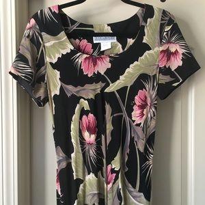 80s Vintage Floral Dress